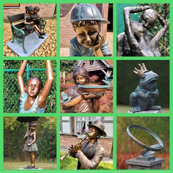 Grote foto bronzen tuinbeelden tuin en terras tuinbeelden en tuinkabouters