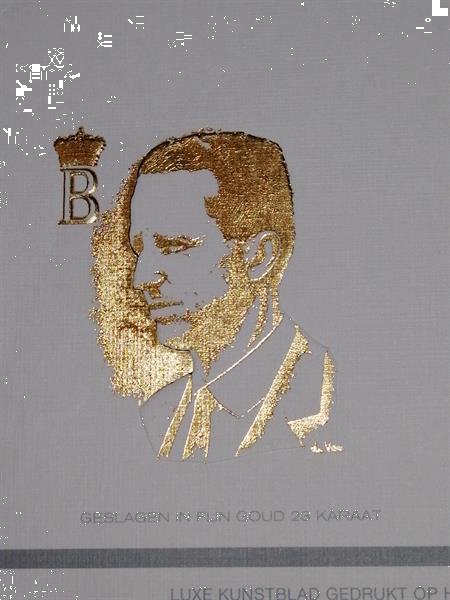 Grote foto koning boudewijn luxe kunstblad postzegels en munten belgi