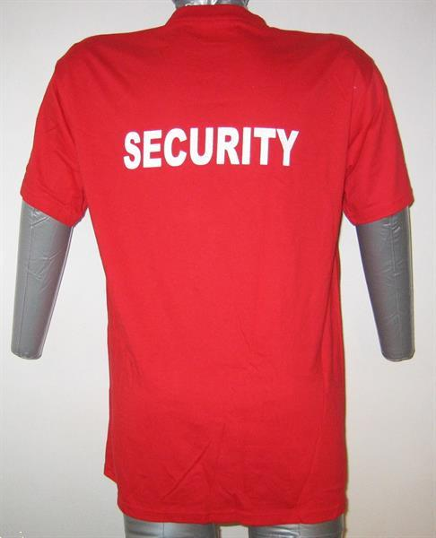 Grote foto rood t shirt medium 50 alice rock security kleding heren t shirts