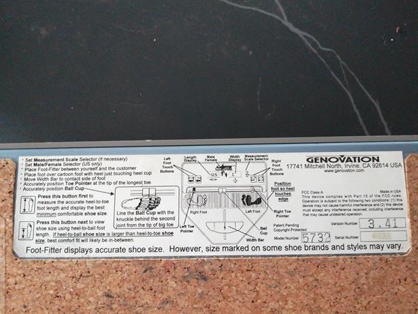 Grote foto elektronisch voetmeettoestel zakelijke goederen onderdelen