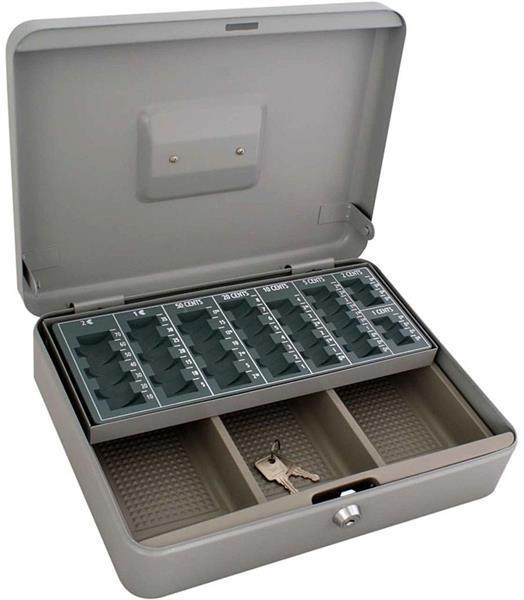 Grote foto metalen geldkist 30x24x9cm met munten sorteerplateau alleen antiek en kunst curiosa en brocante