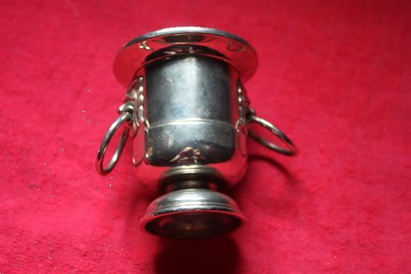 Grote foto zilveren potje en miniijsemmertje sieraden tassen en uiterlijk assieraden