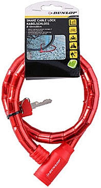 Grote foto kabelslot rood 800x18mm alleen deze week 10 extra korting motoren overige accessoires
