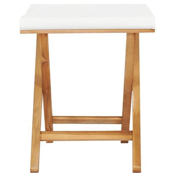 Grote foto vidaxl chaises pliables 2 pcs bois de teck solide et tissu b tuin en terras tuinmeubelen