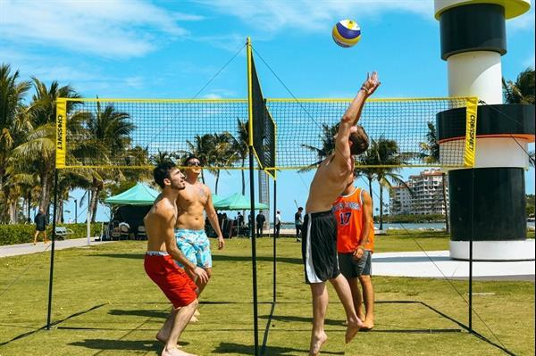Grote foto hammer crossnet volleybal net four square sport en fitness volleybal