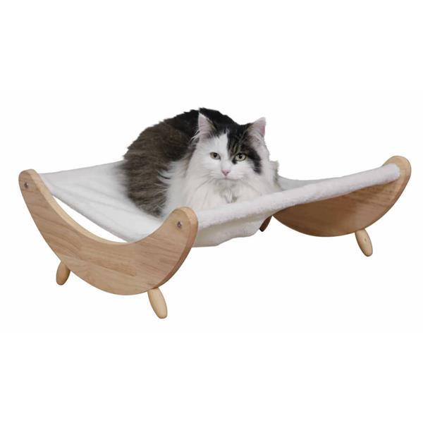 Grote foto kerbl kattenhangmat dream 51x46x19 5 cm beige en wit dieren en toebehoren katten accessoires