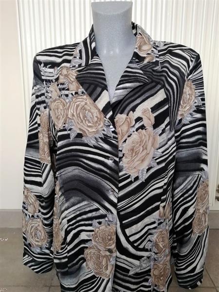 Grote foto chique getailleerde blouse met print van gl ser 42 kleding dames blouses en tunieken