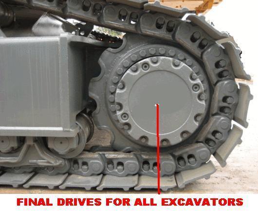 Grote foto nieuwe rupsmotor eindaandrijving rijmotor agrarisch graafmachines