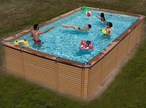 Grote foto zwembad azteck recht recht bovengronds tuin en terras zwembaden en spa