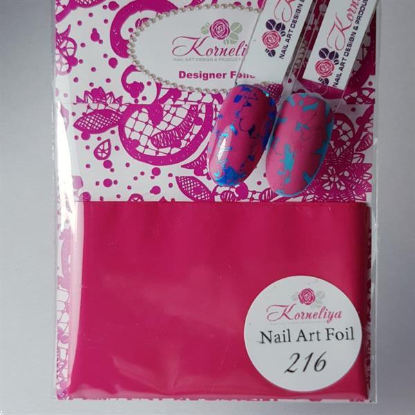 Grote foto korneliya nailart folie mat craquel framboos rood 216 beauty en gezondheid make up sets