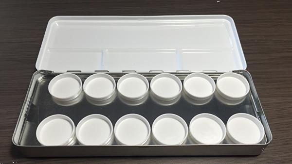 Grote foto korneliya meng palet metaal 24 cups beauty en gezondheid make up sets