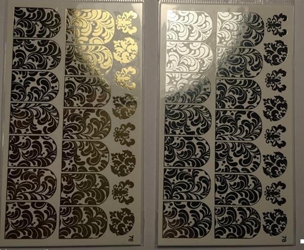 Grote foto korneliya folie decal 78 holografisch goud beauty en gezondheid make up sets