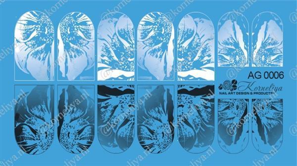Grote foto korneliya airbrush waterdecal ag 0006 combi beauty en gezondheid make up sets