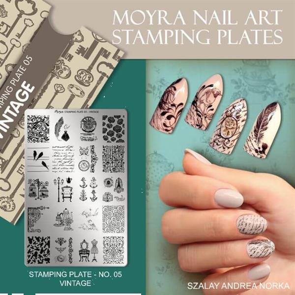 Grote foto moyra stamping plate 05 vintage beauty en gezondheid make up sets