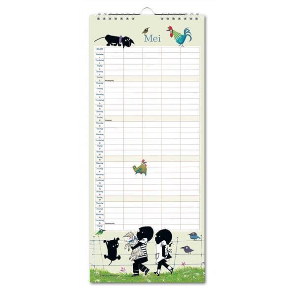 Grote foto jip en janneke familiekalender 2021 zakelijke goederen kantoorartikelen