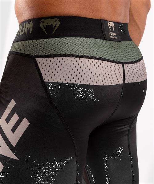 Grote foto venum one fc impact compression tights legging kaki zwart ki sport en fitness vechtsporten en zelfverdediging
