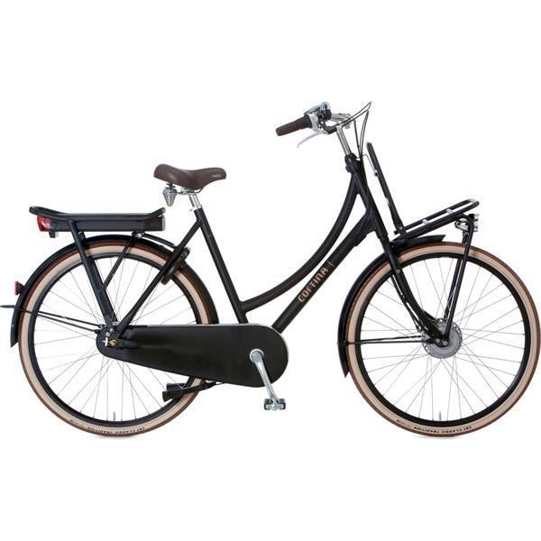 Grote foto cortina e u4 elektrische damesfiets 8v mat zwart fietsen en brommers herenfietsen