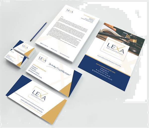 Grote foto logo huisstijl en grafisch ontwerp diensten en vakmensen drukwerk en grafisch ontwerpers