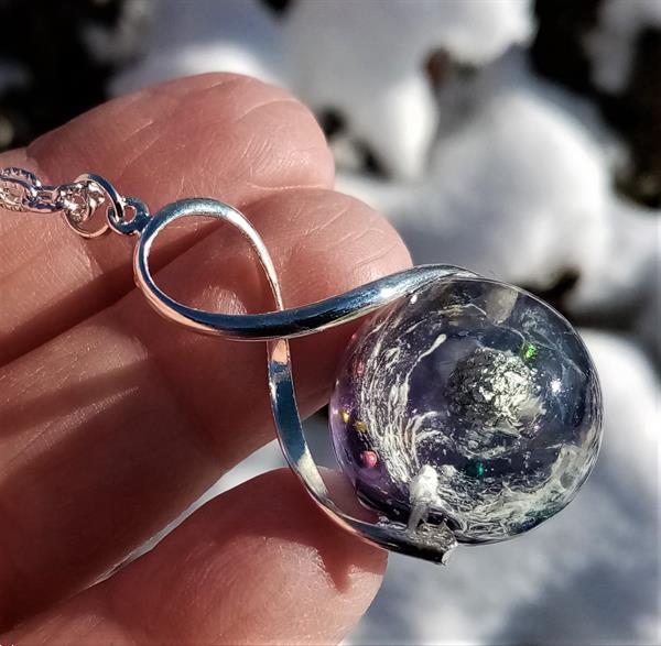 Grote foto orgonite hanger met prachtige bol van het heelal sieraden tassen en uiterlijk juwelen voor haar