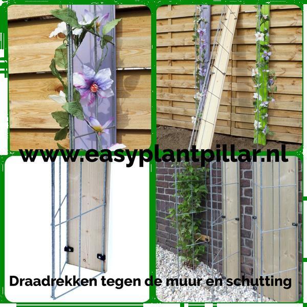 Grote foto plantenrekken voor palen van overkappingen tuin en terras tuinhout en palen