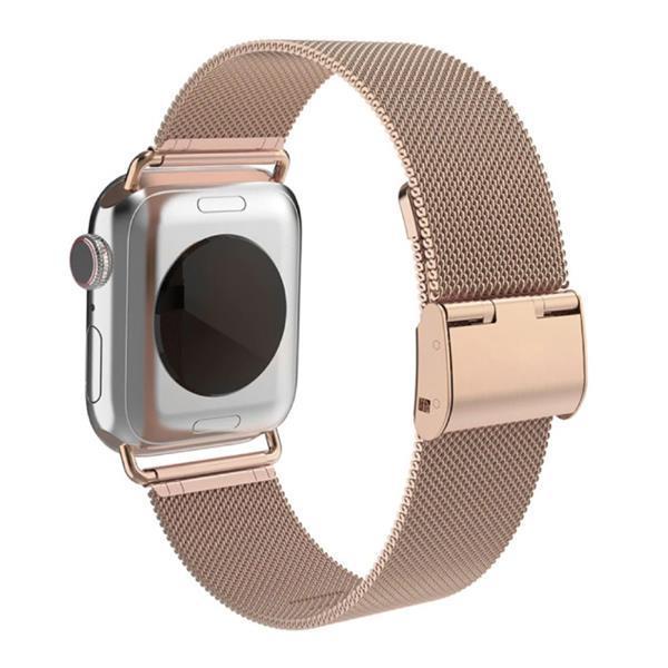 Grote foto bracelet de luxe pour iwatch 38mm 40mm bracelet en m tal telecommunicatie mobieltjes