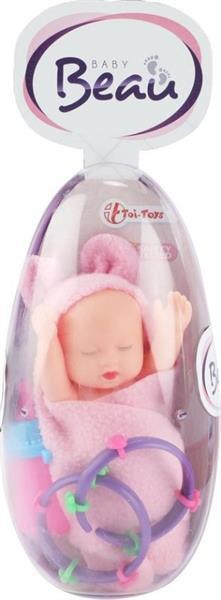 Grote foto toi toys babypop egg meisjes 13 cm roze 5x zakelijke goederen overige zakelijke goederen