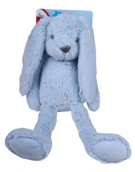 Grote foto knuffel konijn junior 37 cm pluche blauw kinderen en baby knuffels en pluche