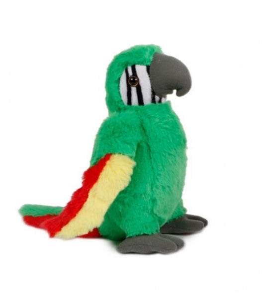 Grote foto knuffel papegaai junior 31 cm pluche groen kinderen en baby knuffels en pluche