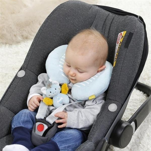 Grote foto nekkussen little castle 24 cm lichtblauw kinderen en baby autostoeltjes
