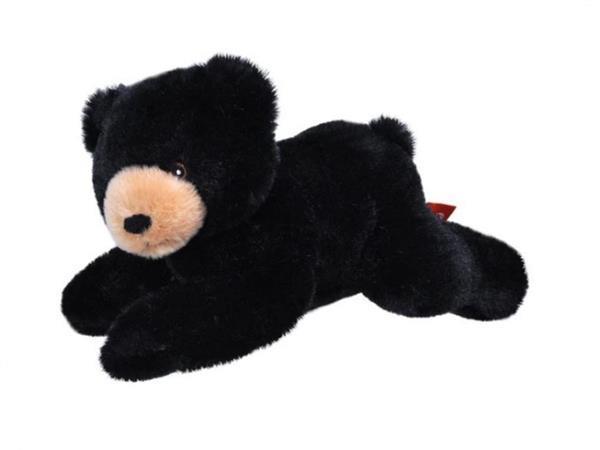 Grote foto knuffel zwarte beer ecokins mini junior 20 cm pluche zwart kinderen en baby knuffels en pluche