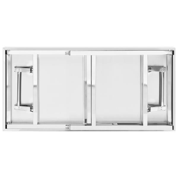 Grote foto vidaxl keukenwerktafel inklapbaar 120x60x80 cm roestvrij sta diversen overige diversen