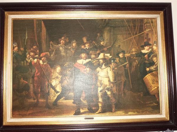 Grote foto de nachtwacht van rembrandt antiek en kunst klassiek