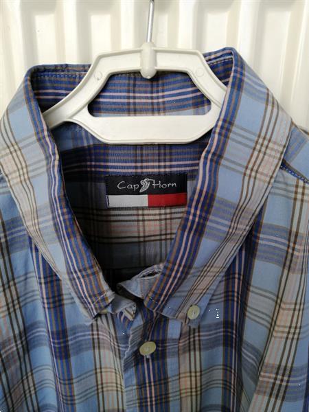 Grote foto hemelsblauw hemd korte mouw cap horn large kleding heren overhemden
