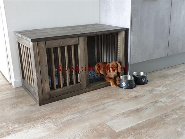 Grote foto houten bench met schuifdeur model rita dieren en toebehoren toebehoren
