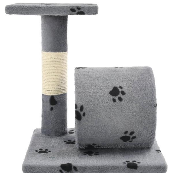 Grote foto kattenkrabpaal met sisal krabpalen 65 cm pootafdrukken grijs dieren en toebehoren overige