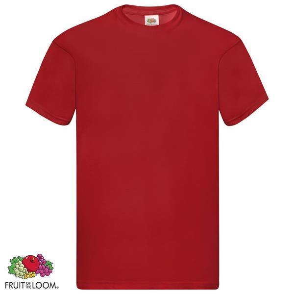 Grote foto fruit of the loom t shirts original 5 st xxl katoen rood kleding heren t shirts