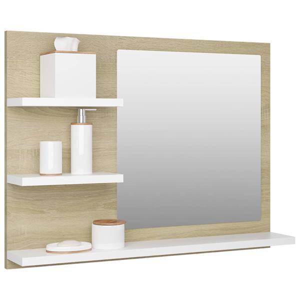 Grote foto badkamerspiegel 60x10 5x45 cm spaanplaat wit sonoma eikenkle huis en inrichting eettafels