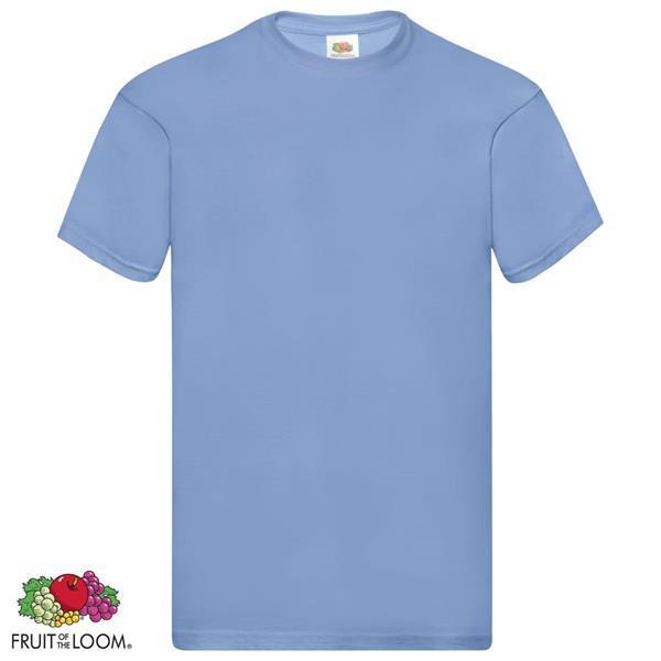 Grote foto fruit of the loom t shirts original 5 st xl katoen lichtblau kleding heren t shirts