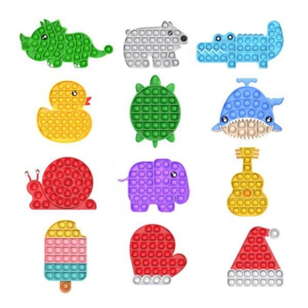 Grote foto pop it fidget anti stress speelgoed bubble toy siliconen s kinderen en baby overige