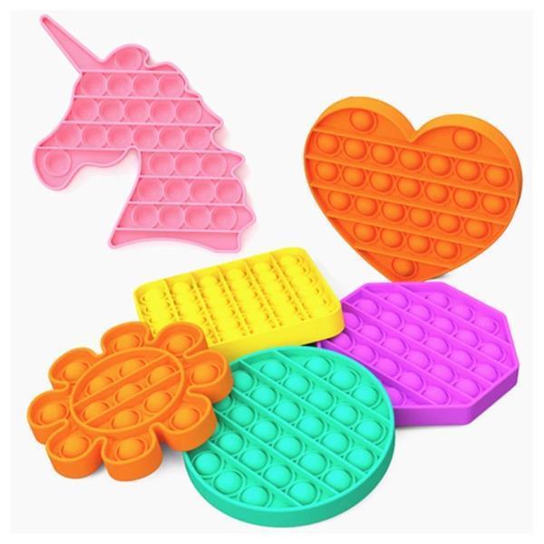 Grote foto pop it fidget anti stress speelgoed bubble toy siliconen c kinderen en baby overige