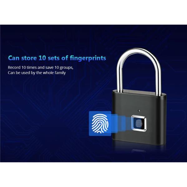 Grote foto hangslot vingerafdruk 10 sets fingerprints oplaadbare sm motoren overige accessoires