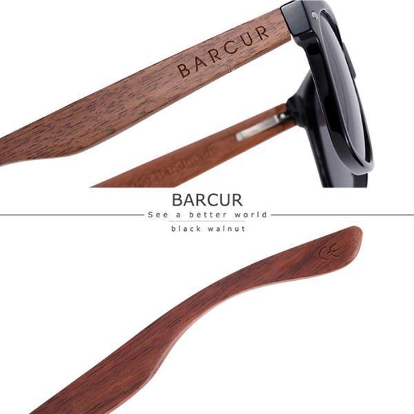 Grote foto zonnebril walnoot met houten kistje uv400 en polaroid filt kleding dames sieraden