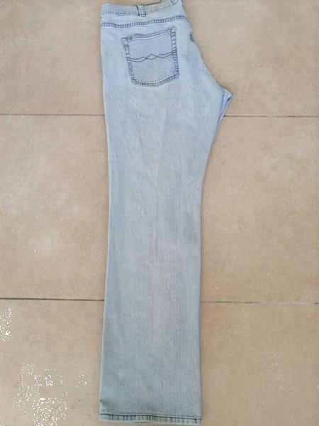 Grote foto stonewashed stretch jeans lichtblauw w42 l34 kleding heren grote maten