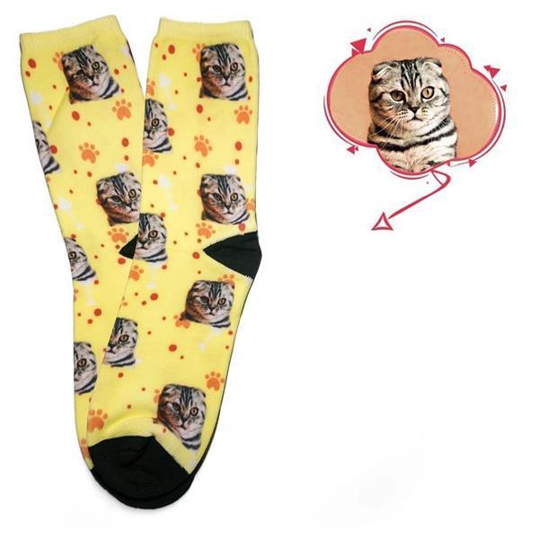 Grote foto sokken met je kat er op top idee dieren en toebehoren katten accessoires