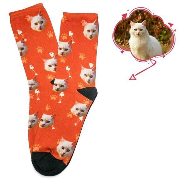 Grote foto sokken met jezelf familie vrienden kat of hond kleding dames ondergoed en lingerie merkkleding