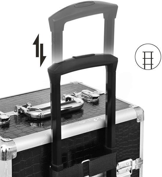 Grote foto kapperskoffer met extra deksel nagelkoffer visagistenkof beauty en gezondheid make up sets