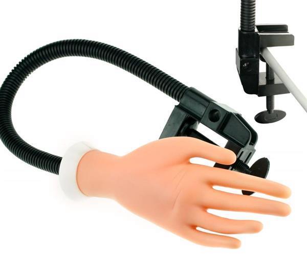 Grote foto nailtrainer oefenhand oefen hand tips gelnagels uv beauty en gezondheid make up sets