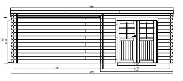 Grote foto tuinhuis rohan ge mpregn 2980 x 2980 3611 tuin en terras tuinhuisjes en blokhutten