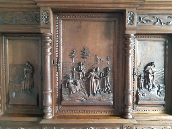 Grote foto antieke vlaamse kast in eikenhout antiek en kunst kasten