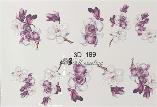 Grote foto korneliya 3d waterdecal 3d 199 beauty en gezondheid make up sets